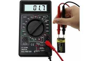 Краткая инструкция по цифровому мультиметру M830B