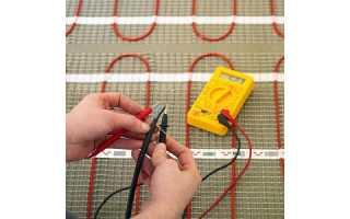 Как быстро проверить теплый пол мультиметром