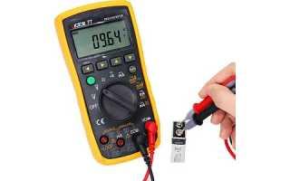 Как правильно проверить батарейку мультиметром