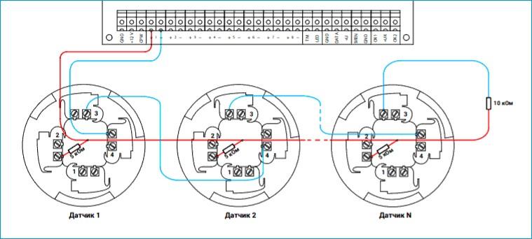 Схема подключения автоматических датчиков