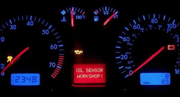 загорелась лампа давления автомобильного масла