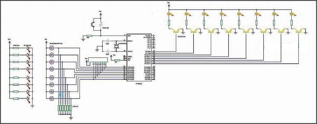 монтажная схема управления движением на базе фотореле