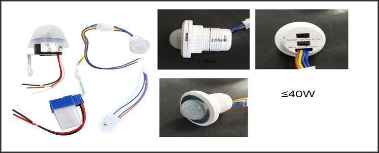 Комплекты автовключателей света с разными датчиками