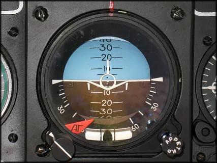 пример использования в самолете – указатель горизонта