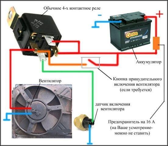 Датчик включения вентилятора Приора