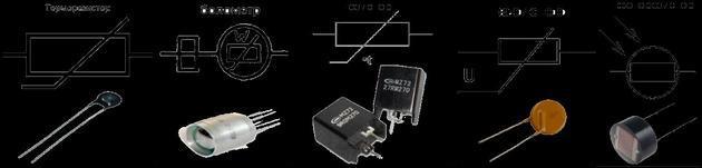 Обозначения разных электродеталей