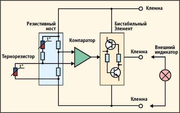 Схема для тепловых пожарных извещателей