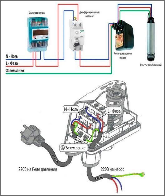 Подключение реле давления воды