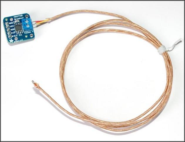 термопара с подключенным преобразователем MAX7765