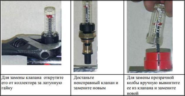 Монтаж ротаметра