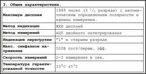 Общие характеристики