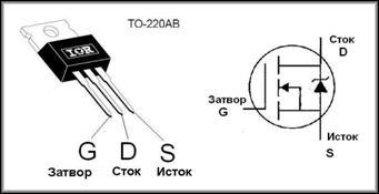 Назначение выводов полевого транзистора