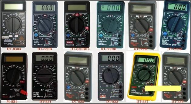 Мультиметры серии DT