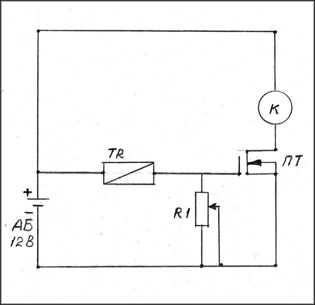 Схема терсорегулятора
