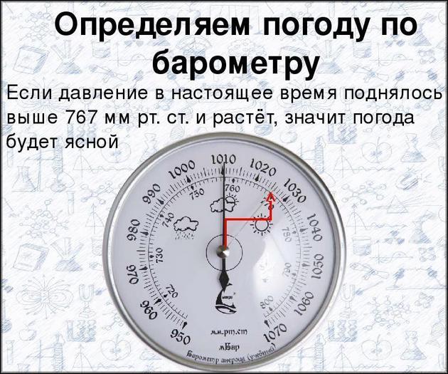 Определение погоды по баромтеру