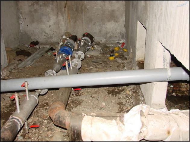 Теплосчетчики в подвале