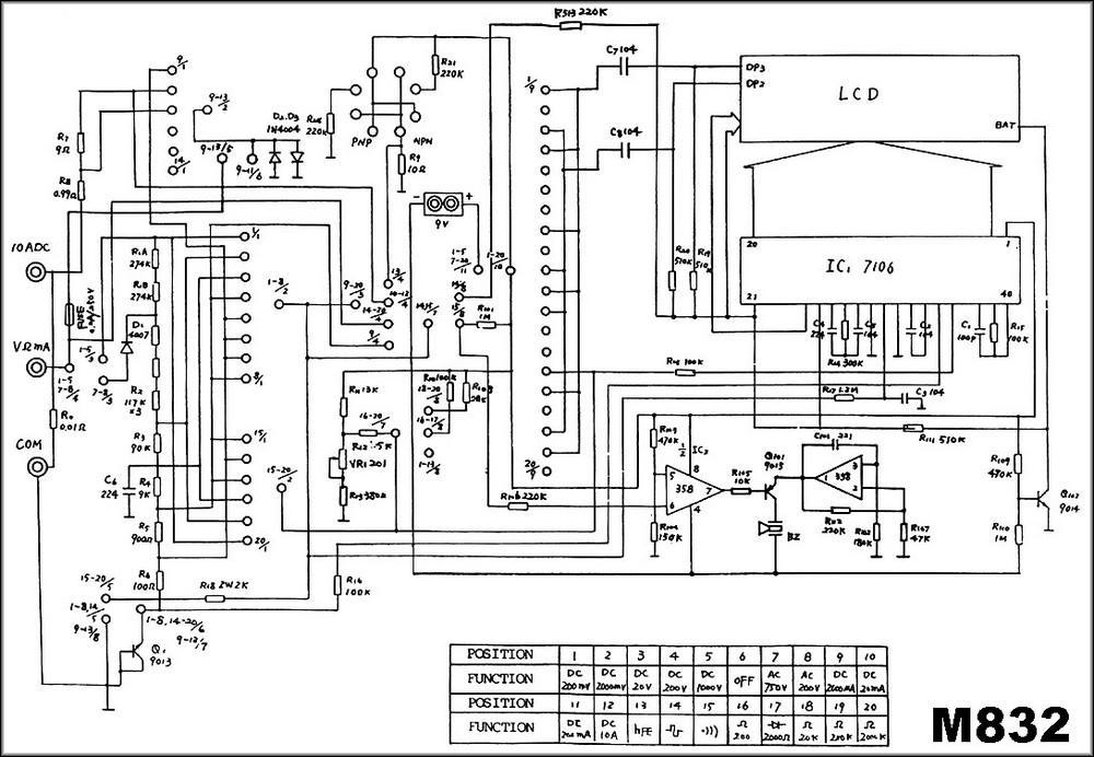 Принципиальная схема М832
