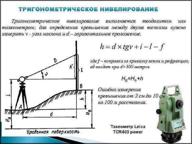Тригонометрическое нивелирование