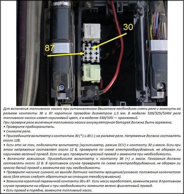 Включение ТН на БМВ инструкция
