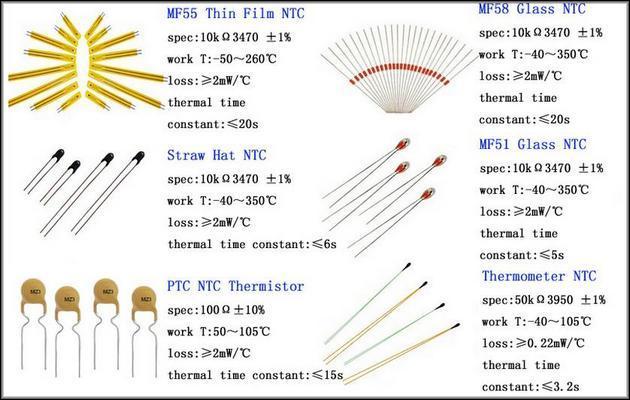 Датчики NTC с характеристиками
