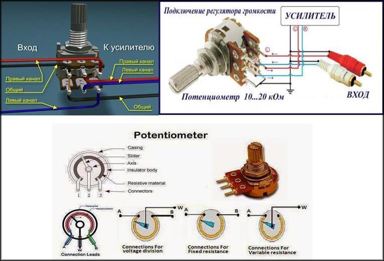 Подключение потенциометра