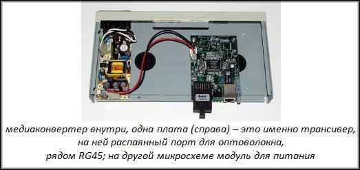 Медиаконвертер с трансивером