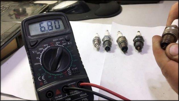 Проверка мультиметром свеч зажигания
