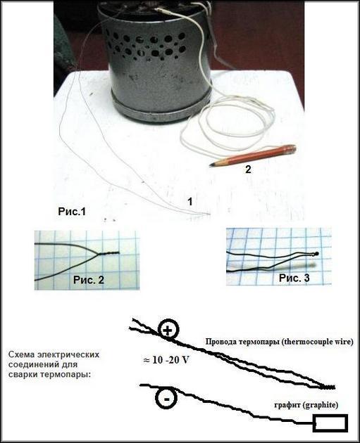 Ручные способы спайки концов термопары