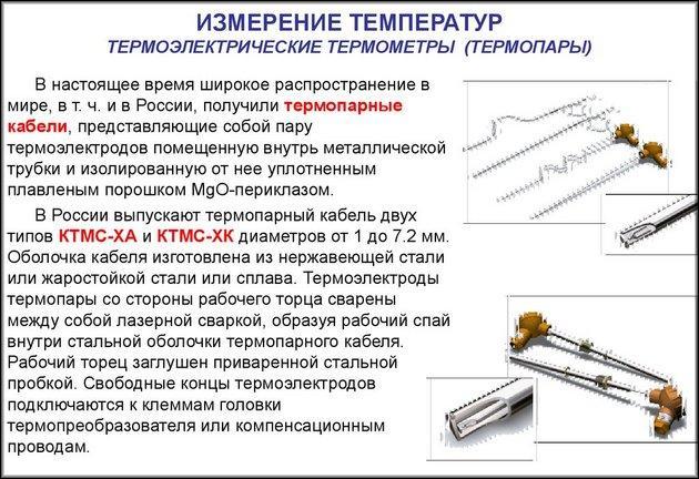 Термопары из России