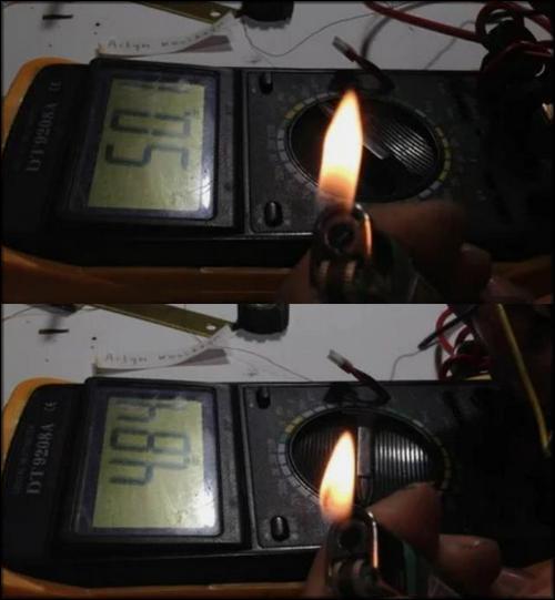 Проверка самодельной термопары