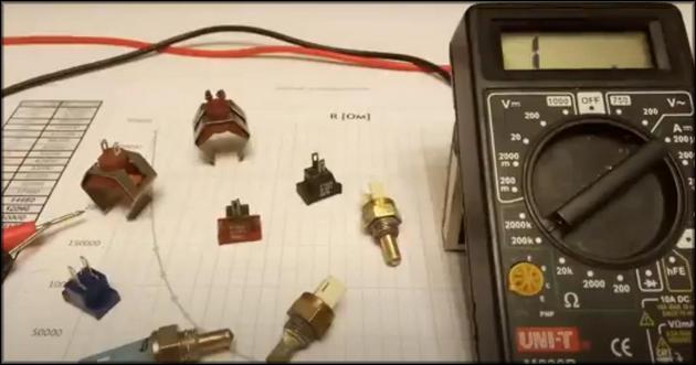 Проверка NTC мультиметром