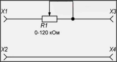 Переменный резистор как реостат