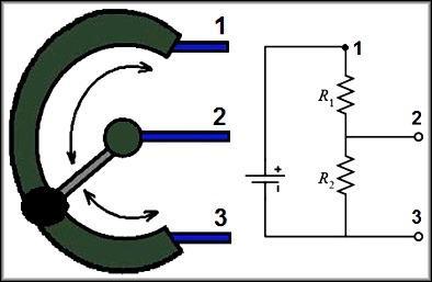 Схема с использованием резисторов, делитель