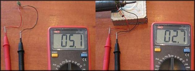 Проверка термистора мультиметром