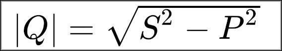 Формула реактивной мощности