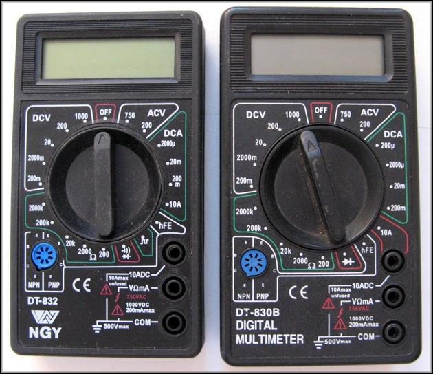 Мультиметр DT830