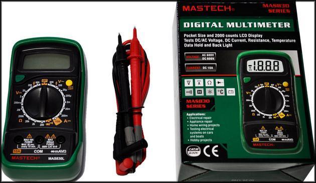 Мультиметр в упаковке Mastech MAS830L