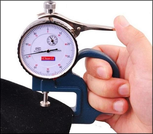Измерение механическим толщиномером