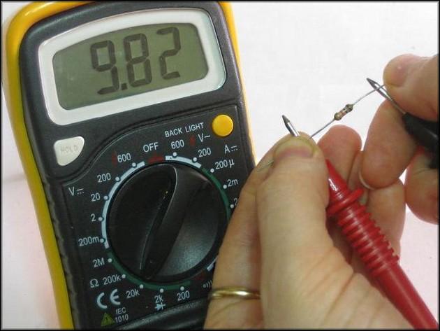 Проверка постоянного резистора