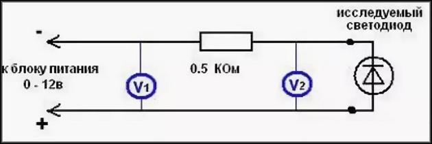 Определение мощности светодиодамультиметром