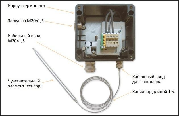 Схема капиллярный термостат