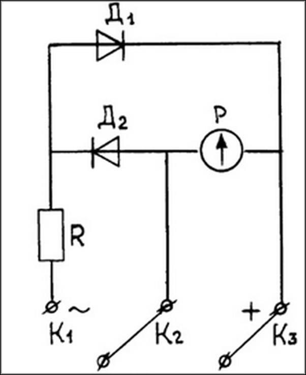 Обозначение гальванометра на схемах