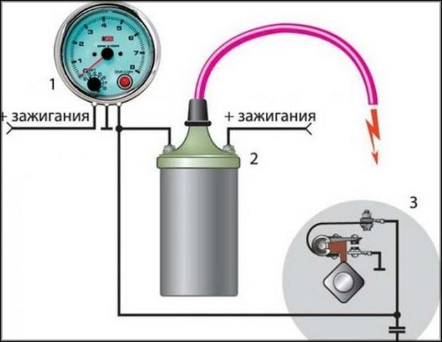 Принципиальная схема тахометр ВАЗ-2107