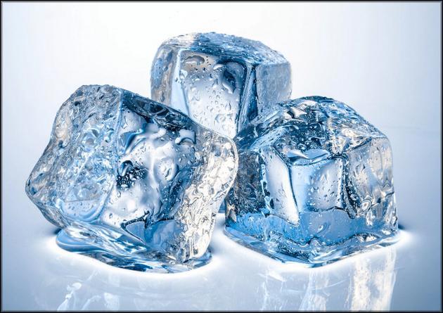 Даже лед излучает тепло