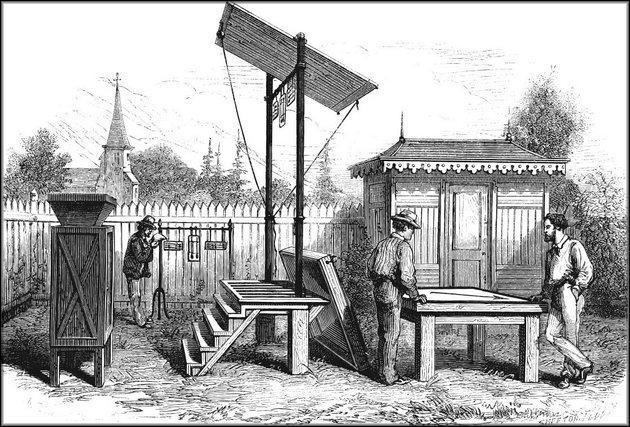 Одна из первых метеостанций