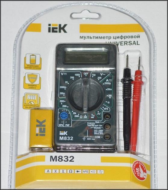 Мультиметр М832 комплектация
