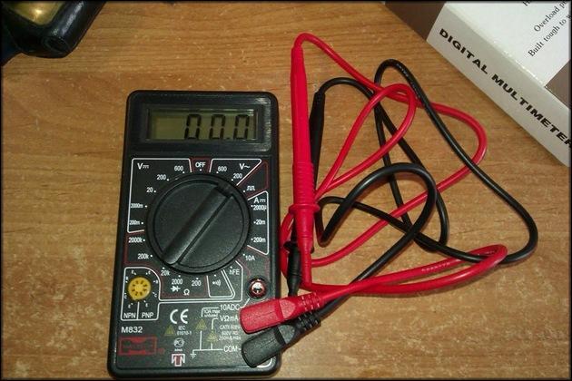 Мультиметр М832 контрольные щупы