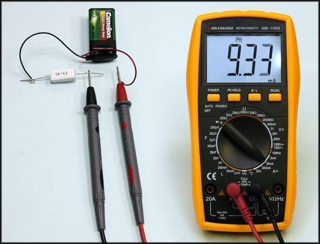 Измерение силы тока мультиметром