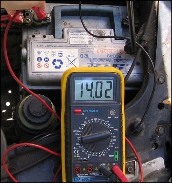 Проверка зарядного тока генератора