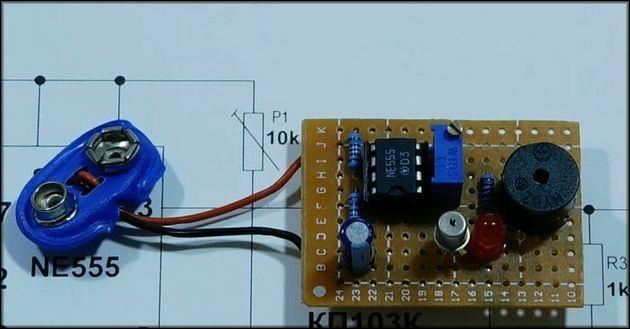 Детектор на основе схемы 555